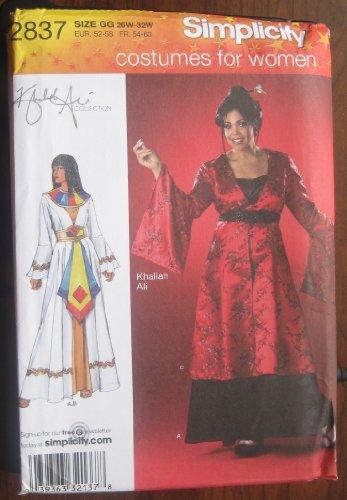 [SIMPLICITY PATTERN 2837 WOMENS PETITE COSTUME SIZE 26w-32w] (Size 28 Costumes)