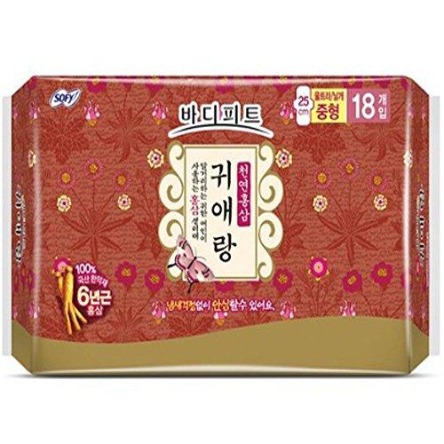 bodyfit-guierang-natural-red-ginseng-medium-sanitary-pads-18-count-pack-of-2