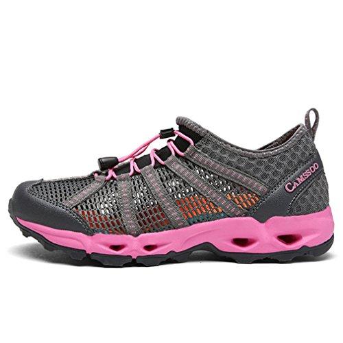 XIGUAFR Gris caño rosa botas adulto bajo y de Unisex OvROwBxrq