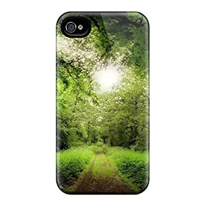 New Premium Flip Cases Covers Road Through A Magical Forest Skin Cases Iphone 5C