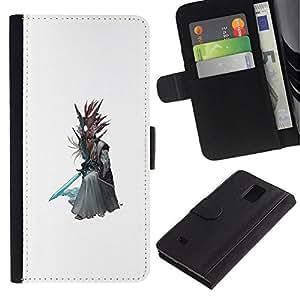 NEECELL GIFT forCITY // Billetera de cuero Caso Cubierta de protección Carcasa / Leather Wallet Case for Samsung Galaxy Note 4 IV // Asistente Árbol
