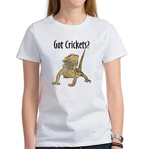 Got Crickets (CafePress - Bearded Dragon Got Crickets Women's T-Shirt - Womens Cotton T-Shirt, Crew Neck, Comfortable & Soft Classic Tee)