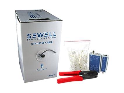 Tremendous Amazon Com Sewell Network Cable Kit Cat5E Connectors Crimpter Wiring Cloud Strefoxcilixyz