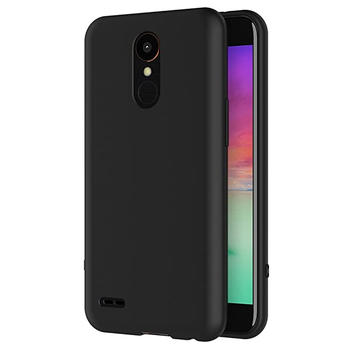 16 opinioni per Cover per LG K10 2017, AICEK Cover LG K10 2017 Nero Silicone Case Molle di TPU