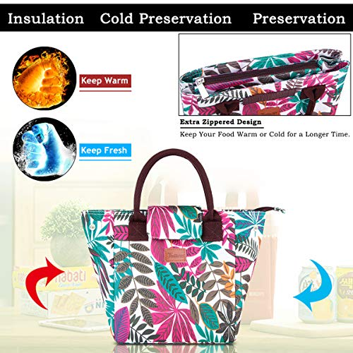 a080155e3a84 Details about Lunch Bags For Women Insulated Tote With Large Capacity  Handbag Fordable(G-220