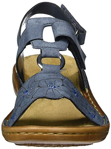 Rieker Women's 60843 Closed Toe Sandals, Blue (Blue), 6.5 UK Blue (Jeans / 14 14)