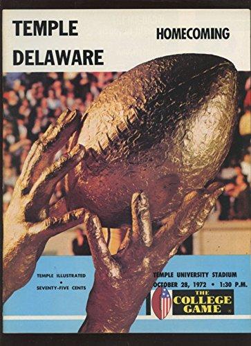 (October 28 1972 NCAA Football Program Temple vs Delaware)