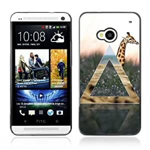 Designer Depo Hard Protection Case for HTC One M7 / Cool Giraffe & Nature