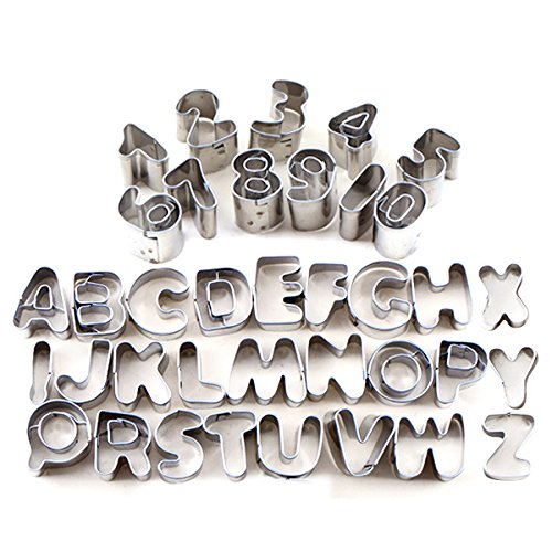 tinksky letters and numbers shaped set of 37 metal cutters for cake decorating 37 pcs amazoncouk kitchen home