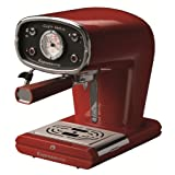 Espressione New Café Retro Espresso Machine, Red