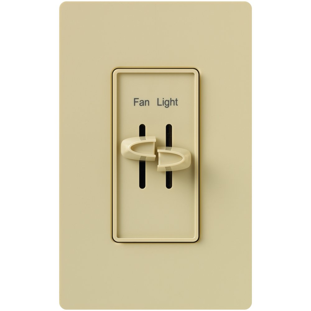 Lutron S2-LFSQ-WH Skylark Dimmer & Fan Control, White - Wall Dimmer  Switches - Amazon.com