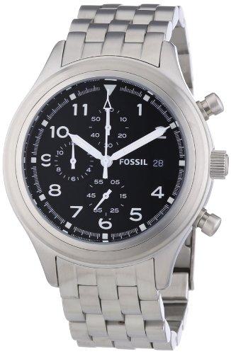 ساعت مچی مردانه کرنوگراف فسیل مدل JR1431 با بدنه استیل