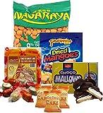 Assorted Filipino food/snacks , Nagaraya Cracker nut, Dried Philippine Mango, Choco mallows, Melon Cake (Pack C)