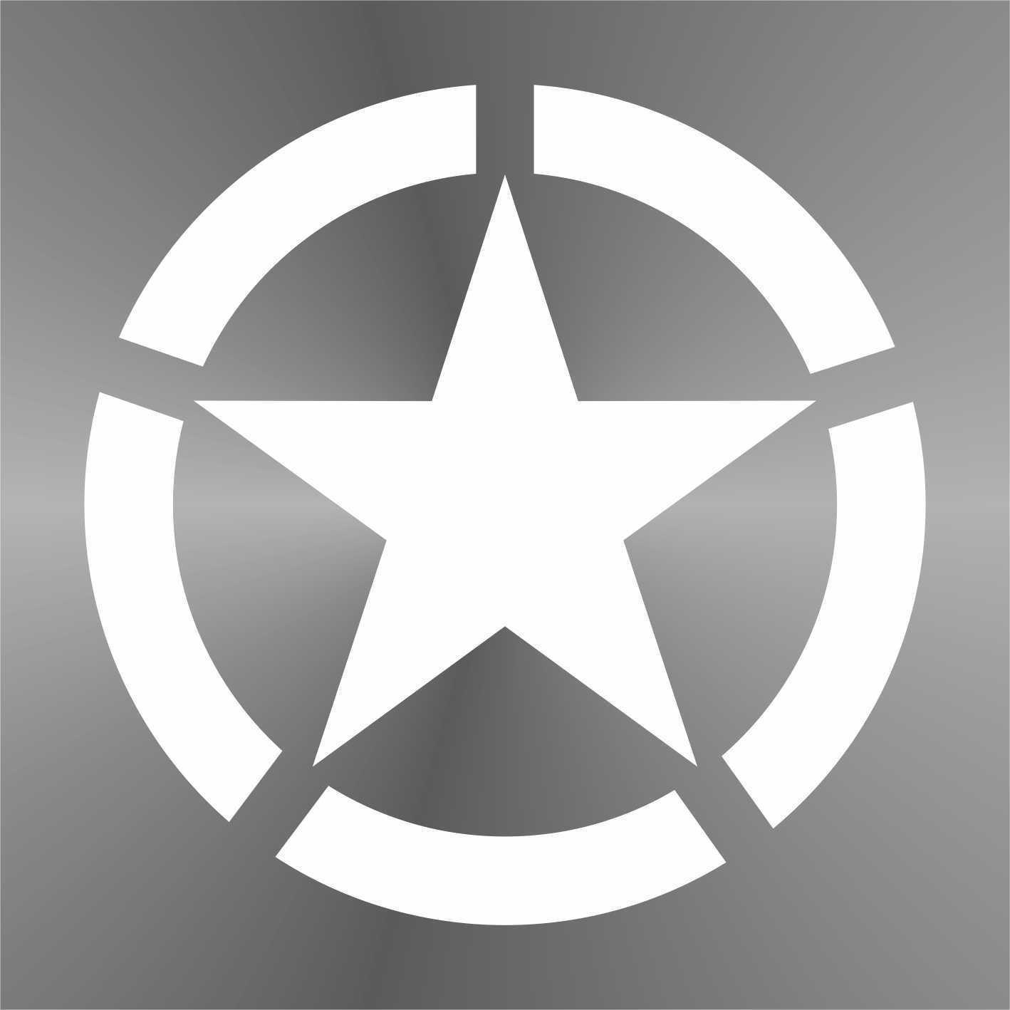 Sticker Stella Militare Military Star Militä r Sterne estrella de los militares é toiles militaire - Decal Cars Motorcycles Helmet Wall Camper Bike Adesivo Adhesive Autocollant Pegatina Aufkleber - cm 10 erreinge