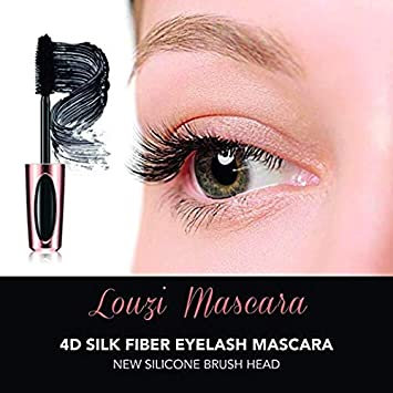 4D Silk Fiber Lash Mascara, Fiber Lash Mascara Waterproof, Thicker, Voluminous Eyelashes, Dramatic Extension, Smudge-proof, Natural Fiber Mascara, Long-Lasting