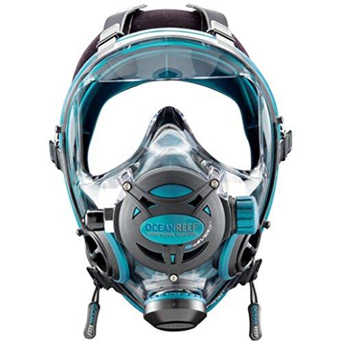 Ocean Reef Neptune Space G Full Face Mask Emerald, - Full Space Face Mask Neptune