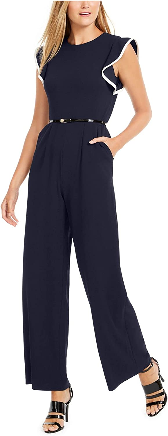 Calvin Klein shopping Women's Outlet ☆ Free Shipping Belted Jumpsuit