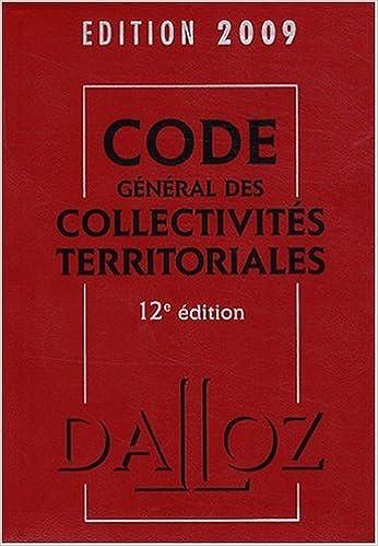Livre gratuits Code général des collectivités territoriales 2009 pdf