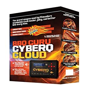 CyberQ Cloud BBQ Temperature Controller, 1 Digital Meat Thermometers and 1 Pit Probe, Big Green Egg or Ceramic Adapter and Pit Viper Fan