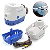Reelva 12V 750GPH Automatic Bilge Water Pump, With Internal Float Switch Submersibl