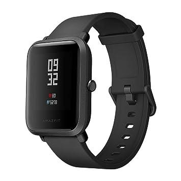 TAOtTAO Xiaomi Mi Amazfit Bip Reloj Huami Smart Band con medidor de frecuencia cardíaca podómetro Mi versión joven en movimiento del reloj inteligente: ...