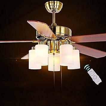 YHJ Leuchter Kronleuchter Fan Europäische Antike Elektrische Ventilator  Light Style Deckenventilator Einfache Moderne Restaurant Fan Lampe