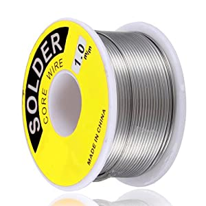 Topzone® 1.0 mm 60/40 Rosin Core Tin Lead Roll Soldering Solder Wire (45 Gram)