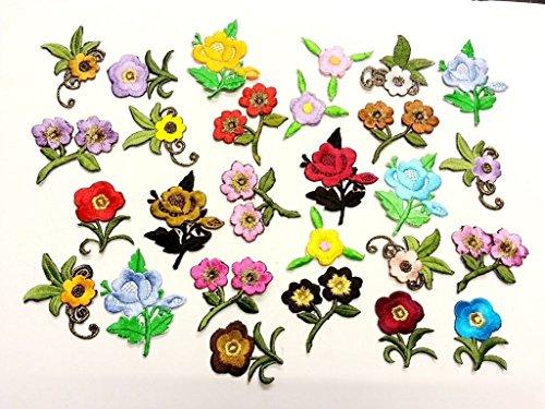 CraftbuddyUS 10 Iron On Stick, Sew On Fabric Flower Motifs, Craft, Sewing, Embroidery (Sew Fabric Flowers)