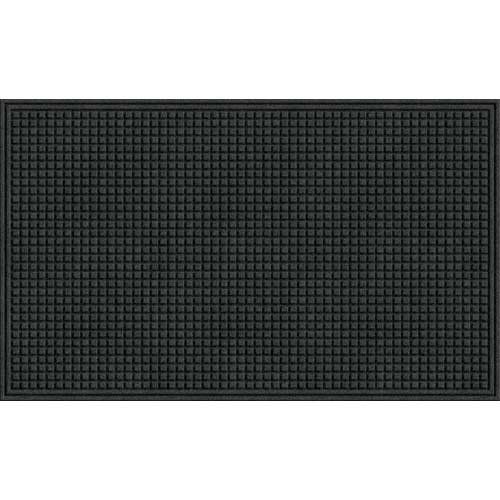 Apache Mills (Textures Squares Entrance Door Mat, Onyx, 3-Feet by 5-Feet)