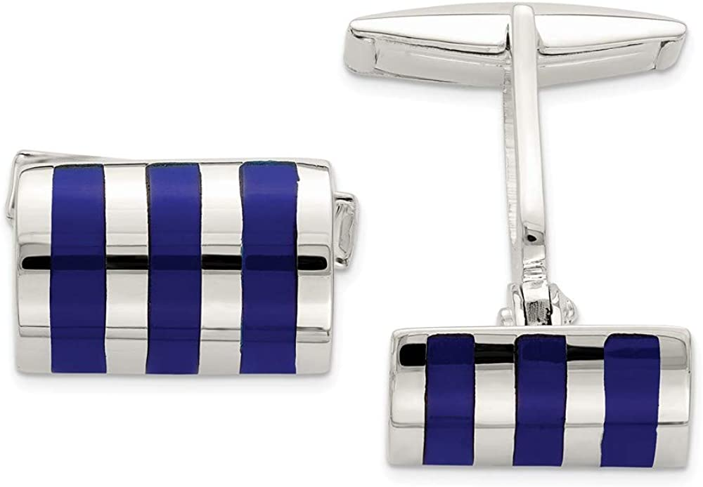 925 Sterling Silver Lapis Cuff Links Mens Cufflinks Link Man Fine Jewelry For Dad Mens Gifts For Him