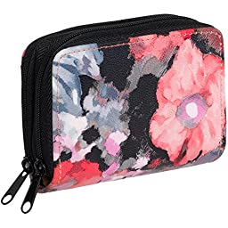 Buxton Womens RFID Identity Safe Card Wizard Wallet (Floral)