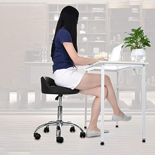 Heberry Salon Stool Hydraulic Salon Chair Office Chair Beauty Salon Work Bench Bar Chair Black