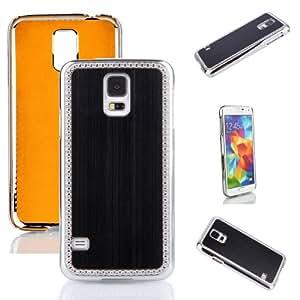 Brushed Aluminum Chrome Hard Case For Samsung Galaxy S5 SV 2014 Smartphone 16GB 32GB Black