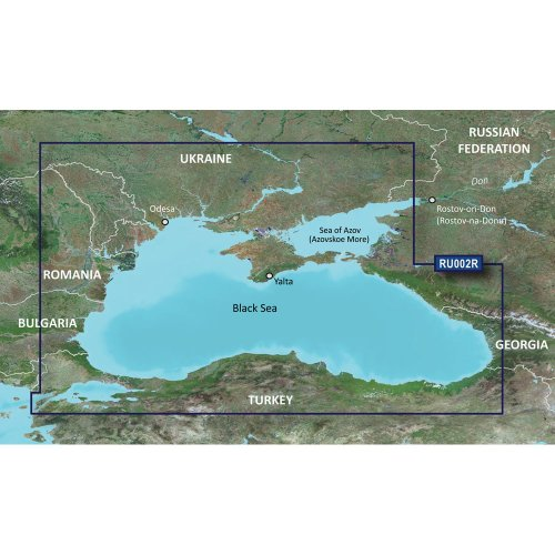 Sea Data Card - Garmin BlueChart g2 Vision HD - VRU002R - Black Sea and Azov Sea – Preprogrammed Data Card