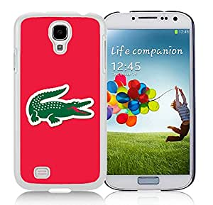 Popular Designed Phone Case For Samsung Galaxy S4 I9500 i337 M919 i545 r970 l720 With Lacoste 4 White Phone Case