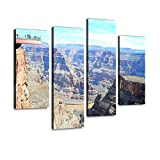 Grand Canyon Skywalk Canvas Wall Art Hanging Paintings Modern Artwork Abstract Picture Prints Home Decoration Gift Unique Designed Framed 4 Panel