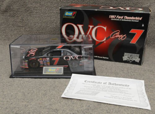 GEOFF BODINE #7 QVC 1997 FORD THUNDERBIRD REVELL DIECAST 1:24 Narrow EDITION