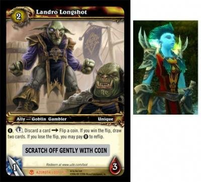 World of Warcraft Heroes of Azeroth WOW Single Card Landro