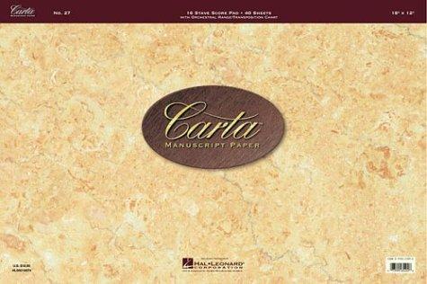 No. 27: Carta Manuscript Paper