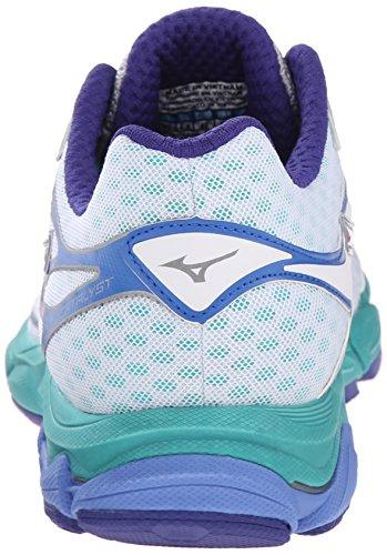 Mizuno Wave Catalizador de la mujer running Shoe White/ Hyacinth Violet