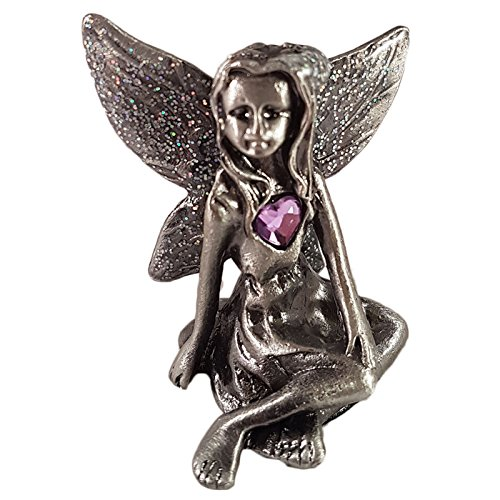 Leonardo Collection Birthstone Pewter Fairy Gemstone Ornament (June) ()