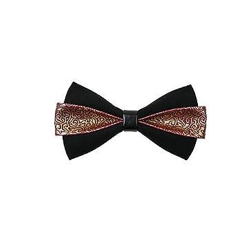 QTDS Traje de Corbata de moño para Hombres Vestido de Corbata de ...