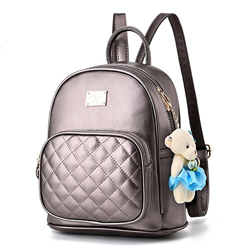 Girls Backpack Travle Cute Laides for Backpack Shopping Women Leather Bronze Casual XwYpz
