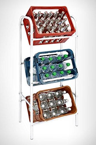 Getränkekistenregal für 3 Getränkekästen - weiß - Kastenregal, Kastenständer