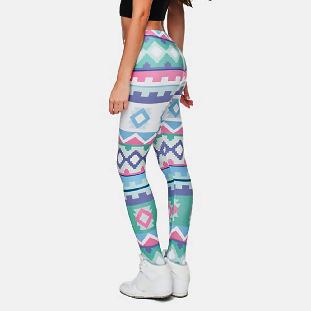 Gillberry Clothing Printed Women Yoga Leggings High Waist Tummy Control Over The Heel Yoga Pants