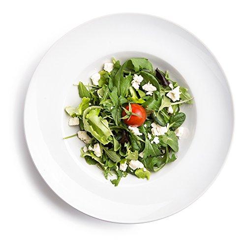 6 x Ø 27 cm Pastateller / Salatteller / Porzellanteller / Nudelteller / Suppenteller | Tiefe 5,5 cm