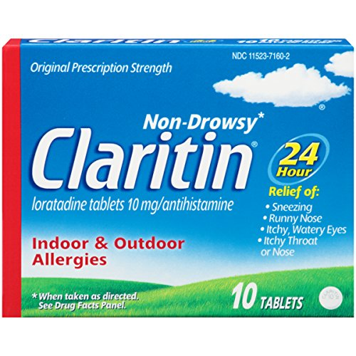 Claritin 24 Hour Non-Drowsy Allergy Tablets, 10 mg, 10 Count