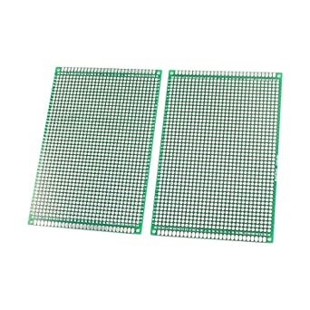 uxcell 2pcs universal double sided prototype printed circuit board rh amazon com