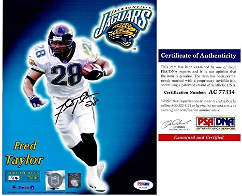 Fred Taylor Autographed Photo - Jags Limited 8x10 inch Certificate of Authenticity COA) - PSA/DNA Certified