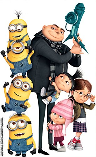 14 Inch Gru Edith Agnes Margo Minions Despicable Me Removable Wall Decal Sticker Art Home Decor Kids Room-9 Inch Wide By 14 1/4 Inch Tall]()